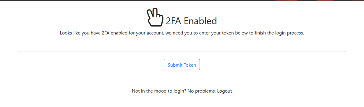 Enabled 2FA